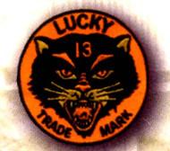 Lucky 13 Black Kat Patch