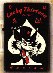 Lucky 13 So. Cal. Wolf Lighter