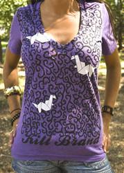 Kill Brand Origami Birds Deep-V T-Shirt