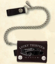 Lucky 13 Grey Ghost Wallet - 4 inch