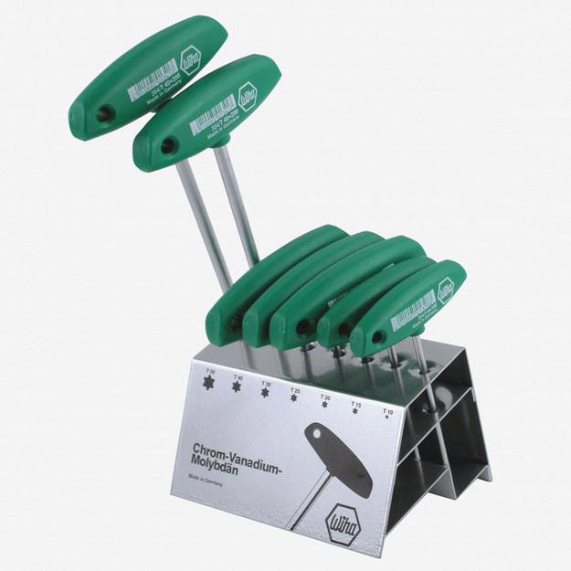 Wiha 36490 7 Piece Torx T-handle Metal Stand Set - KC Tool