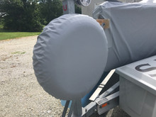 Cover to protect trailer spare tire from UV damage