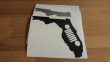 Florida Jeep Grill Decal