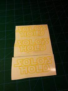 Solo's Hold Decal