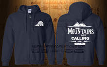 The Mountains are Calling Zippered Hoodie