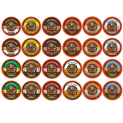 Crazy Cups Decaf Flavored Coffee Single Serve For Keurig K Cups brewer VAriety Pack Sampler. 30 count