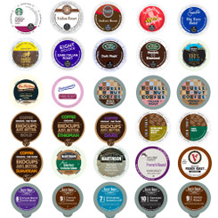 Dark Roast Coffee Single Serve cups for Keurig K cup Brewer Variety Pack Sampler, 30 Count