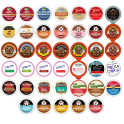 Holiday,Seasonal, Winter Flavors Coffee,Tea,Hot cocoa and Cappuccino Single Serve Variety pack for Keurig K cup, 40 ct