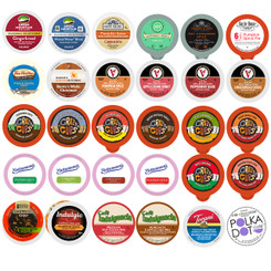 Holiday,Seasonal, Winter Flavors Coffee,Tea,Hot cocoa and Cappuccino Single Serve Variety pack for Keurig K cup, 30 ct