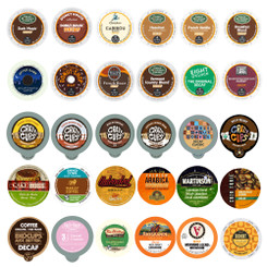 30-count Decaf Coffee Single Serve Cups for Keurig K cups Brewers Variety Pack Sampler