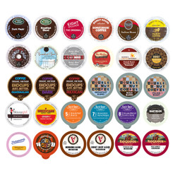 30-count Coffee Only Single Serve cups for Keurig K Cup Brewers Variety Pack Sampler