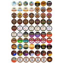 70-count Flavored Coffee Single Serve Cups/K cups Variety Pack Sampler