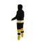 Boston Bruins onesie pajamas by Hockey Sockey - 100 degree side view