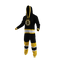 Boston Bruins onesie pajamas by Hockey Sockey - 40 degree side view