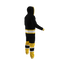 Boston Bruins onesie pajamas by Hockey Sockey - 240 degree side view