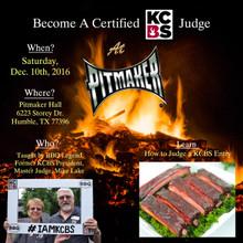 Dec 10th Certified KCBS Judge Class - for KCBS Members