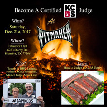 JAN 21st Certified KCBS Judging Class - For Non KCBS Members