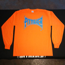 3a - Pitmaker Long-Sleeve Shirt, Orange/Blue