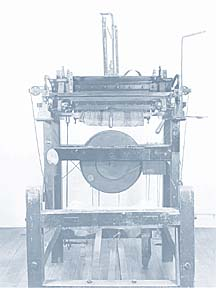Hand frame knitting machine
