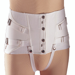 Men's Snap-Button Short Lumbar Brace For Small Figures