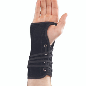 Suede Lace Up Wrist Splint