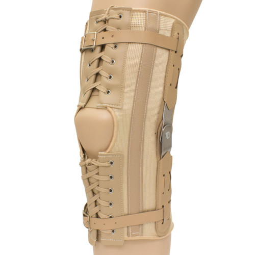 Plus Size Open Patella Laced Hinged Knee Brace