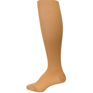 Women's Fashion Plus Compression Pantyhose - Dark Beige