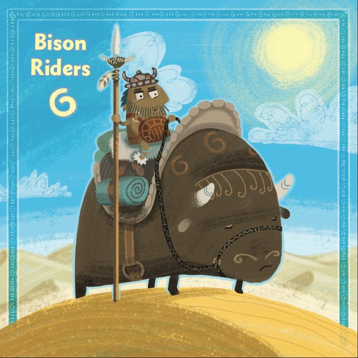 Bison Rider card