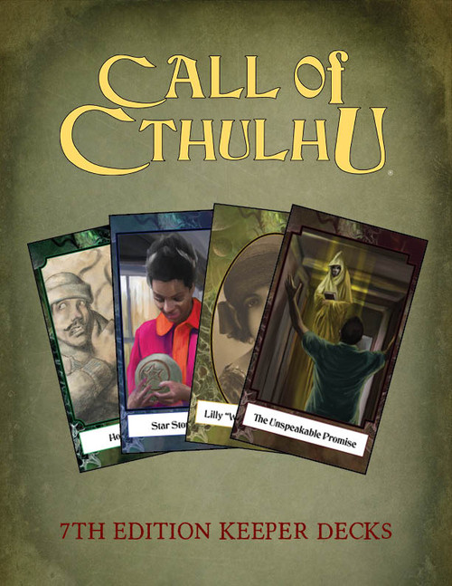 Call of Cthulhu 7th Edition RPG Keeper Decks: 4 decks. -  Chaosium Inc