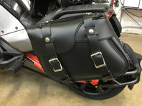 F3 ROADSTER LEATHER SADDLE BAGS WITH LOCKING BRACKETS
