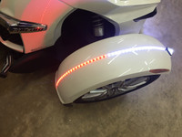 FENDER GROOVE LED LIGHTS FOR ALL SPYDERS WITH BASE/EARLY MODEL FENDERS (NOW COMES WITH FREE SET OF TIP LED LIGHTS!