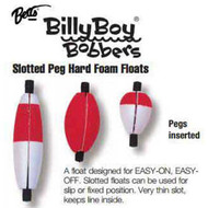 Betts Foam Float Cigar Slotted 2.50' 100ct Red/White