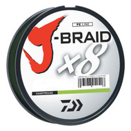 J-Braid Braided Line, 50 lbs Tested - 330 Yards/300m Filler Spool, Chartreuse