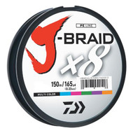 J-Braid Braided Line, 50 lbs Tested - 165 Yards/150m Filler Spool, Multi Color
