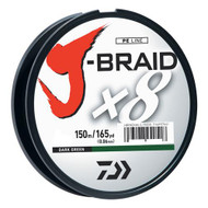 J-Braid Braided Line, 30 lbs Tested - 165 Yards/150m Filler Spool, Dark Green