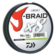 J-Braid Braided Line, 15 lbs Tested - 165 Yards/150m Filler Spool, Chartreuse