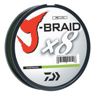 J-Braid Braided Line, 10 lbs Tested - 330 Yards/300m Filler Spool, Chartreuse