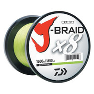J-Braid Braided Line, 10 lbs Tested - 1650 Yards/1500m Filler Spool, Chartreuse