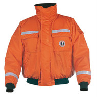Mustang Classic Bomber Jacket w/SOLAS Reflective Tape - XXL - Orange