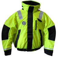 First Watch Hi-Vis Flotation Bomber Jacket - Hi-Vis Yellow/Black - Large