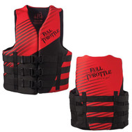 Full Throttle Rapid Dry PFD - Adult L/XL - Red/Black