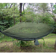 Jungle Hammock with Mosquito Net, Olive