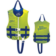 Full Throttle Rapid-Dry Life Vest - Child 30-50lbs - Green/Blue