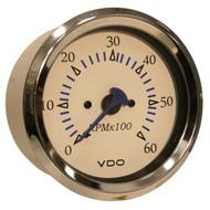 VDO Allentare White 6000RPM 3-3/8 (85mm) Sterndrive Tachometer - 12V