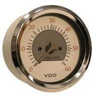 VDO Allentare White/Grey 6000RPM 3-3/8 (85mm) Sterndrive Tachometer - 12V