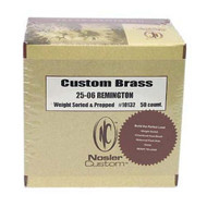 Custom Reloading Brass - 25-06 Remington, Per 50