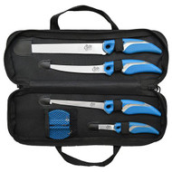 6 Piece Knife and Sharpener Set with Case
