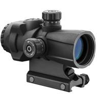 AR-X Pro Prism Scope - 3x30mm, Illuminated Cross Dot Reticle, Black