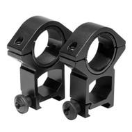 """30mm Rings - Weaver, 1"""" Inserts, Black - RB06"""