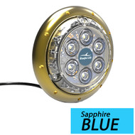 Bluefin LED Barracuda B12 Underwater Light - Surface Mount - 12/24V - Sapphire Blue